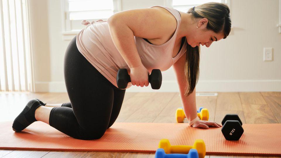 Das Training mit Gewichten ist besonders effektiv.