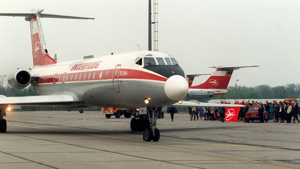 Tupolew Tu-134 der Interflug