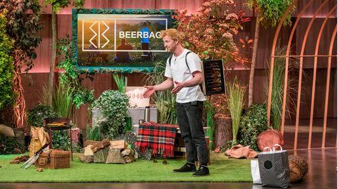 """""""BeerBag"""" im Test: Tilmann Rothe präsentiert seine Erfindung in der Vox-Sendung """"Die Höhle der Löwen"""""""
