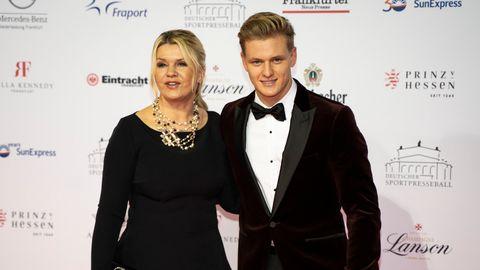 Corinna Schumacher und Sohn Mick beim Sportpresseball 2019.
