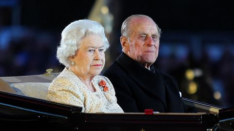 Queen Elizabeth II. und Prinz Philip bei einem gemeinsamen Auftritt im Jahr 2012