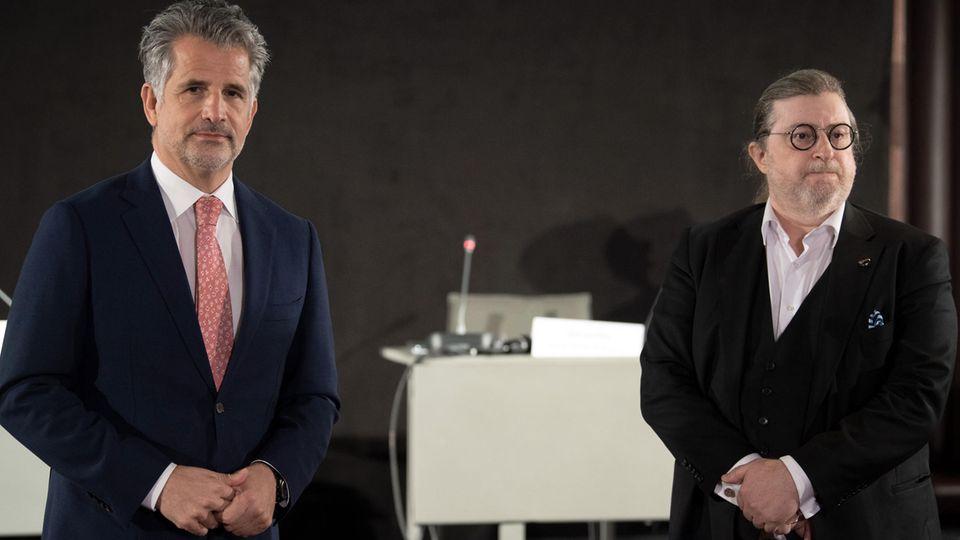 Pressekonferenz in Köln:Otto Lindner, Chef der Lindner Hotels und Vorsitzender des Deutschen Hotelverbandes, und Dirk Iserlohe, Dorint-Aufsichtsratsvorsitzender