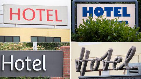 Schriftzüge von Hotels