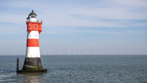 Leuchtturm Roter Sand vor Bremerhaven