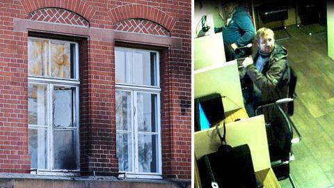 Gebäude des Robert-Koch-Instituts; Fahndungsfoto der Berliner Polizei