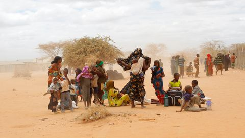 Flüchtlinge bei der Ankunft im Lager Dadaab in Kenia