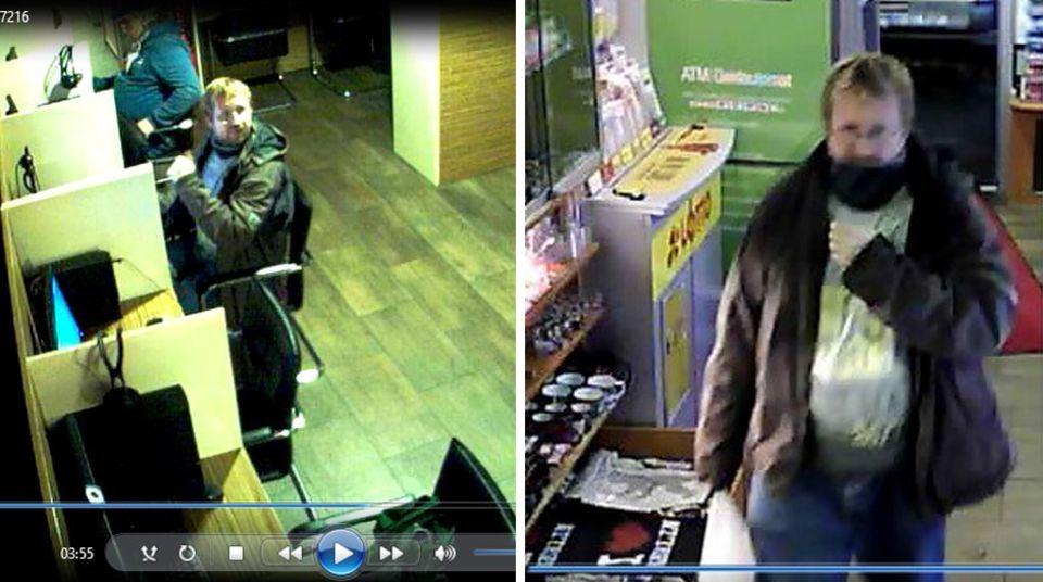 Die Bilder zeigen den Verdächtigen in einem Internetcafé in Berlin-Charlottenburg