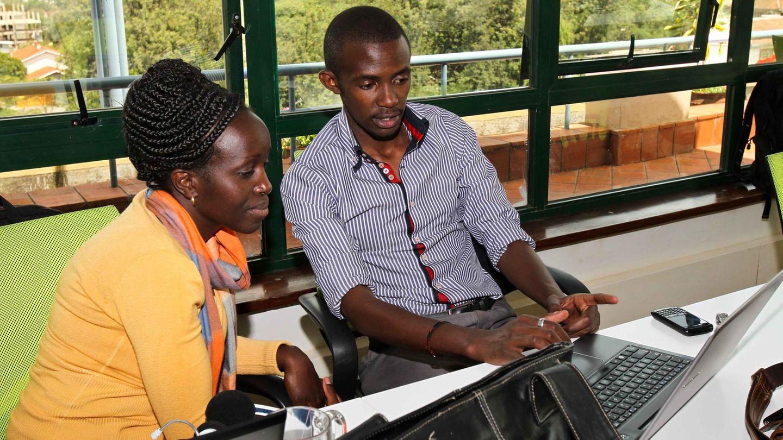 Jungunternehmer im iHub in Kenias Hauptstadt Nairobi
