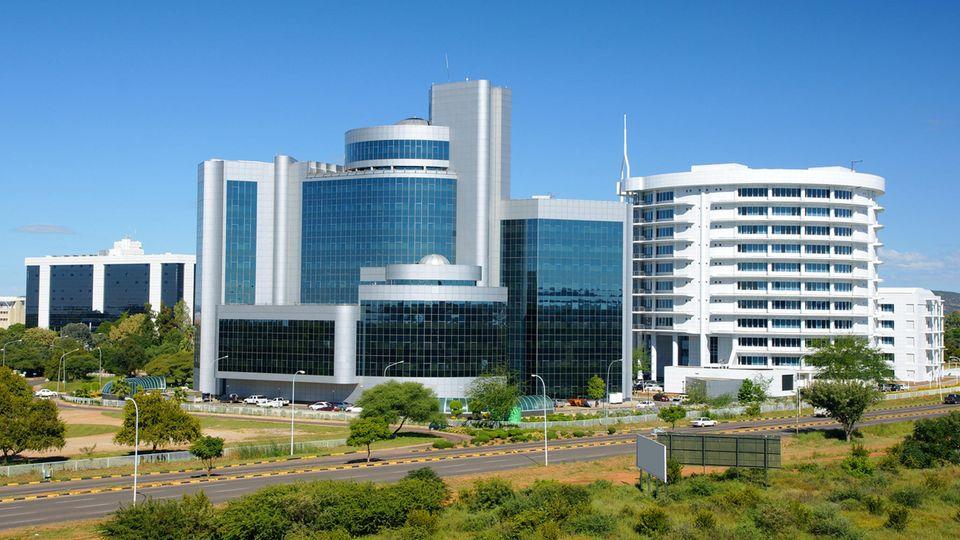 Gaborone, die Hauptstadt von Botsuana