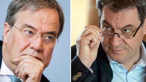 Armin Laschet und Markus Söder mit Brille