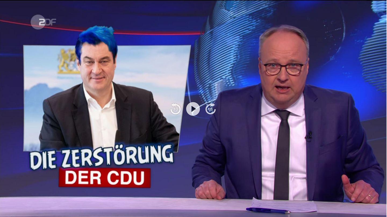 """Markus Söder wird in der """"heute-show"""" zum neuen Rezo"""