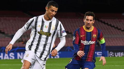 Lionel Messi (r.) und Cristiano Ronaldo würden in einer Super League regelmäßig gegeneinander Spieler