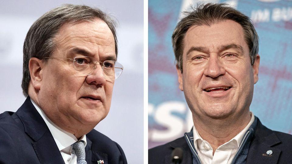 Armin Laschet und Markus Söder (r)