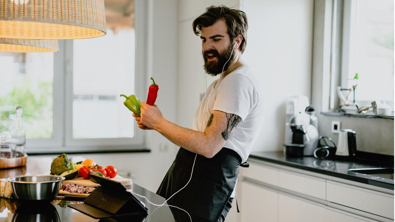 So hätte ich auch gern in der Küche gekocht, leider fehlten die Paprikas - und noch mehr.