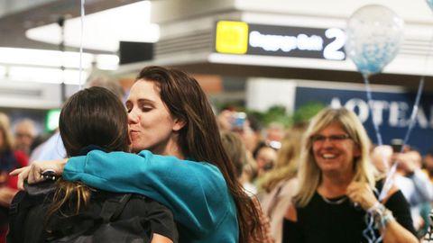 Der Flug 246 von Air New Zealand hat Verwandte und Freude wieder zusammengebracht.