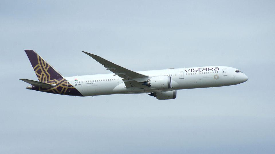 Flugzeug der indischen Airline Vistara