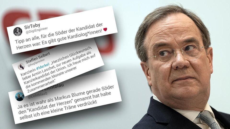 Armin Laschet ist Kanzlerkandidat der Union – Twitter-Reaktionen im Überblick
