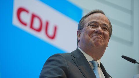 Armin Laschet während seinem Statement zur Kanzlerkandidatur in Berlin
