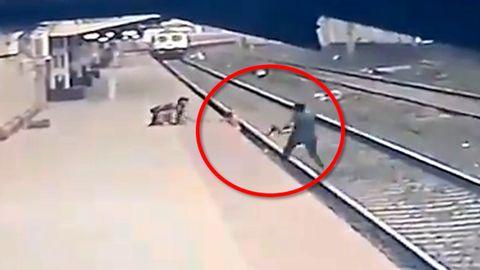 Rettung in letzter Sekunde: Bahn-Mitarbeiter rettet Kind vor einfahrendem Zug