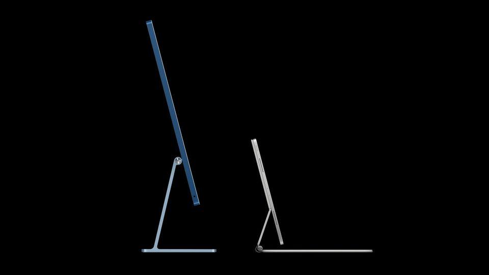 Der neue iMac (links) und das iPad Pro nähern sich nicht nur optisch aneinander an