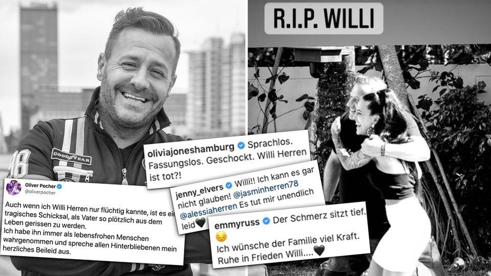 Oliver Pocher, Mickie Krause und Co. – So trauern die Promis um Willi Herren.