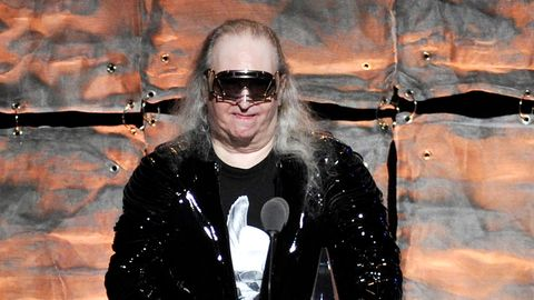 "Der Komponist Jim Steinman Komponist spricht bei der Gala ""2012 Songwriters Hall of Fame"""