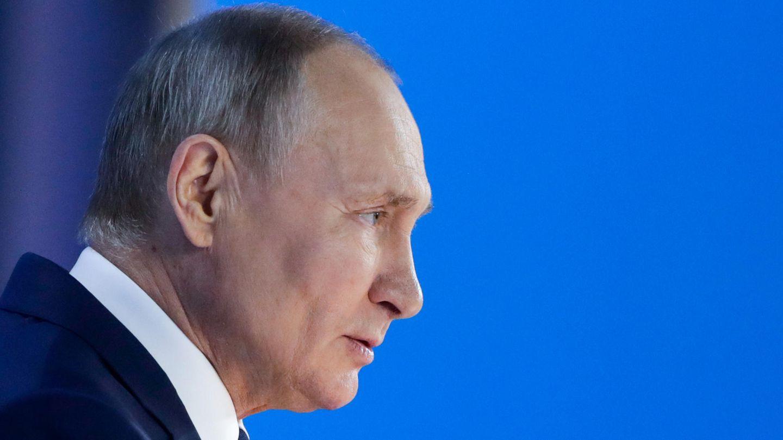 Wladimir Putin bei seiner Rede an die Nation