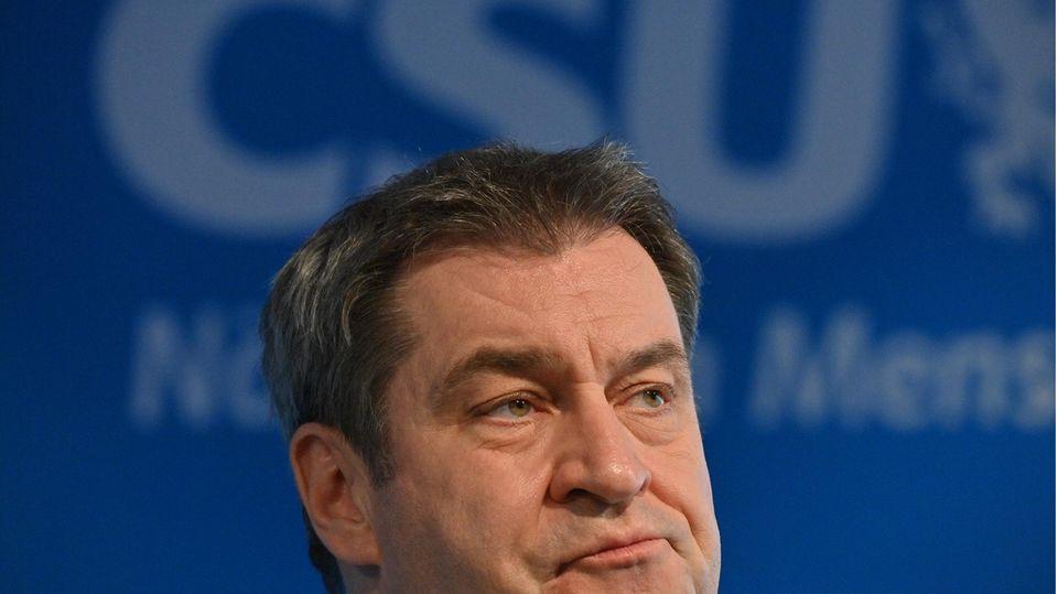 Markus Söder, CSU-Chef und Bayerns Ministerpräsident, bei einer Pressekonferenz