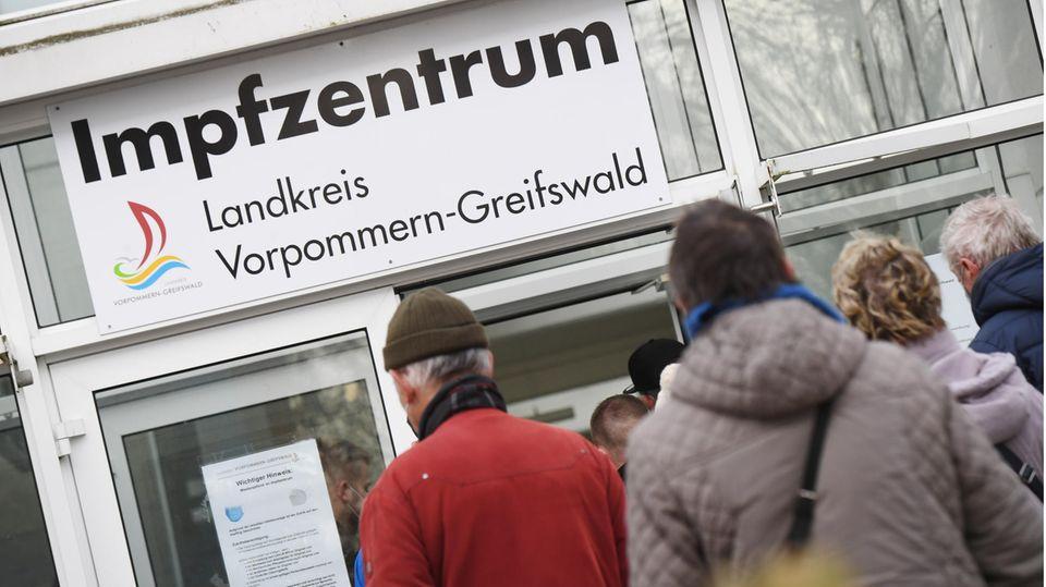 Coronavirus-Impfzentrum in Greifswald