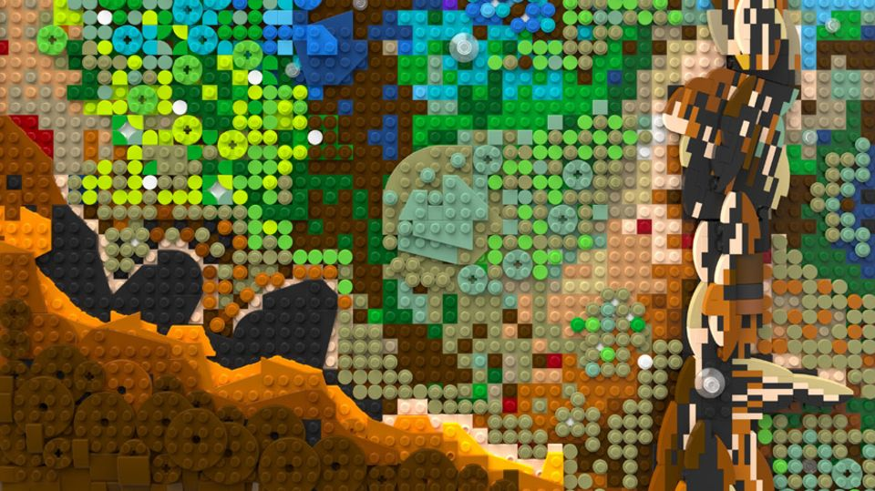 Lego Store Event: Ausschnitt aus 3D-Relief einer Hubble-Aufnahme
