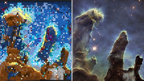 Lego baut 3-D-Modell der berühmtesten Hubble-Aufnahme nach