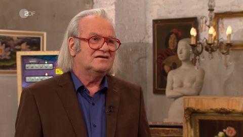 Albert Maier steht im Studio von Bares für Rares in Pulheim
