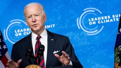 Joe Biden hält Ansprache auf seinem virtuellen Klimagipfel