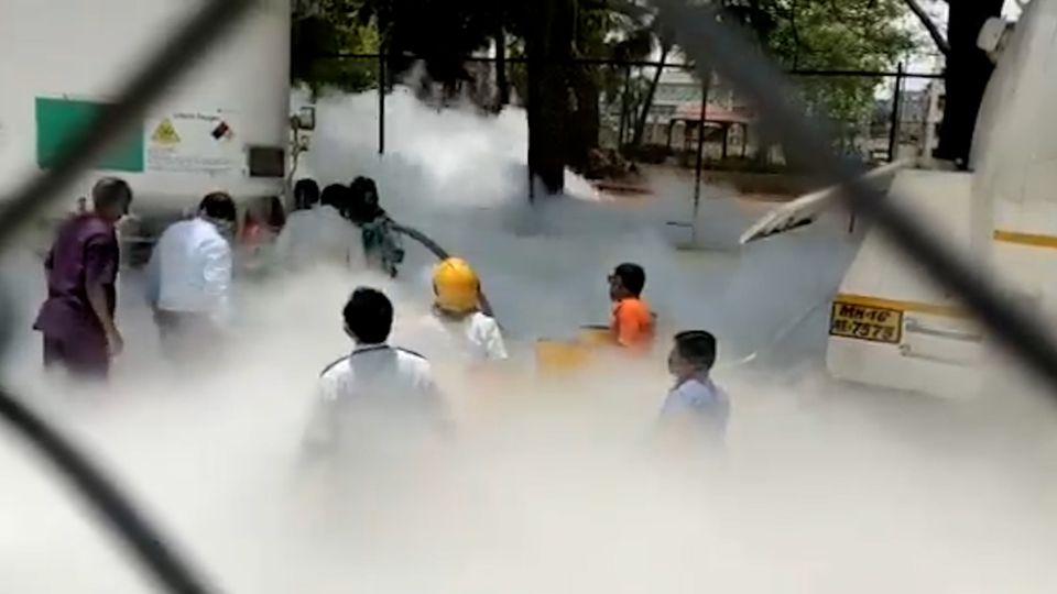 Corona-Klinik in Indien: Sauerstoffleck fordert 22 Todesopfer