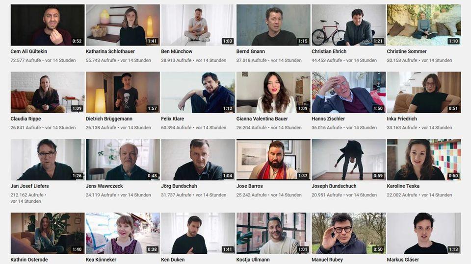 Die Videos der Aktion #allesdichtmachen bei Youtube