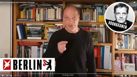 Szene aus dem Video mit dem Schauspieler Martin Brambach: Es regt zum Nachdenken an