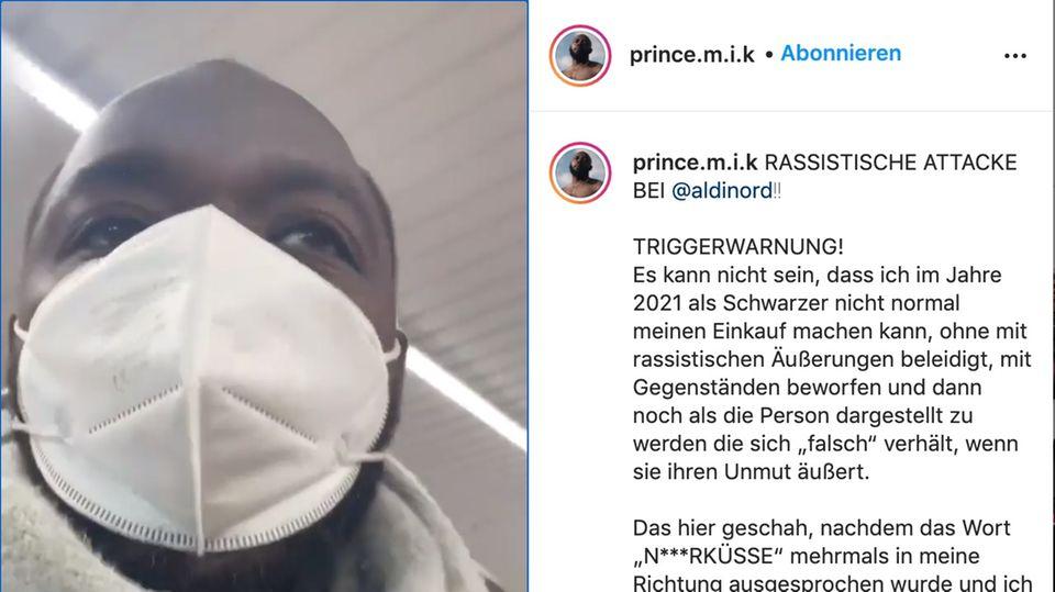 Prince Ofori filmt Rassismusvorfall bei Aldi