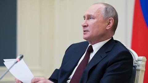 Russland, Moskau: Wladimir Putin beimvirtuellen Klima-Gipfel
