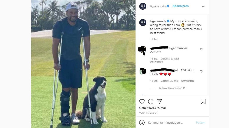 Tiger Woods mit Hund