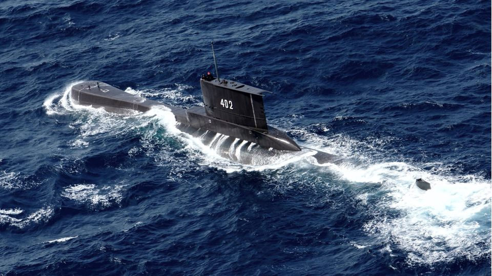 """Das U-Boot """"KRI Nanggala 402"""" der indonesischen Marine"""