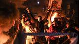 Palästinensische Jugendliche während einer Kundgebung zur Unterstützung von Demonstranten in Jerusalem