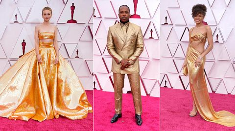 Preisverleihung: Viel Gold und einer kam in Gartenschuhen: Die Oscar-Looks 2021