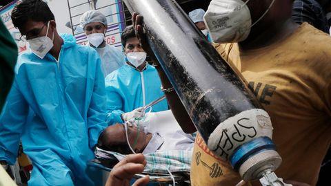 Vielerorts sind die Krankenhäuser in Indien voll – Corona-Patienten kann nicht mehr geholfen werden