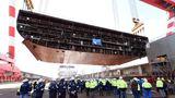 Die Kiellegungzeremonie für Ozeanriesen derOasis-Klasse für die Reederei Royal Caribbean fand im Oktober 2019 statt.
