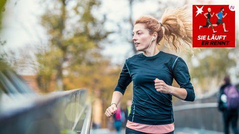 Läuferin bei Training