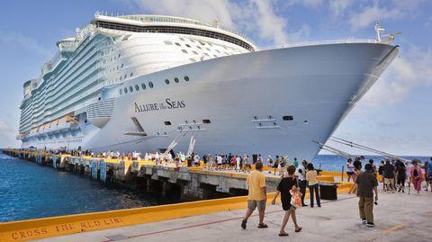 """Die """"Allure of the Seas"""" der Reederei Royal Caribbean"""
