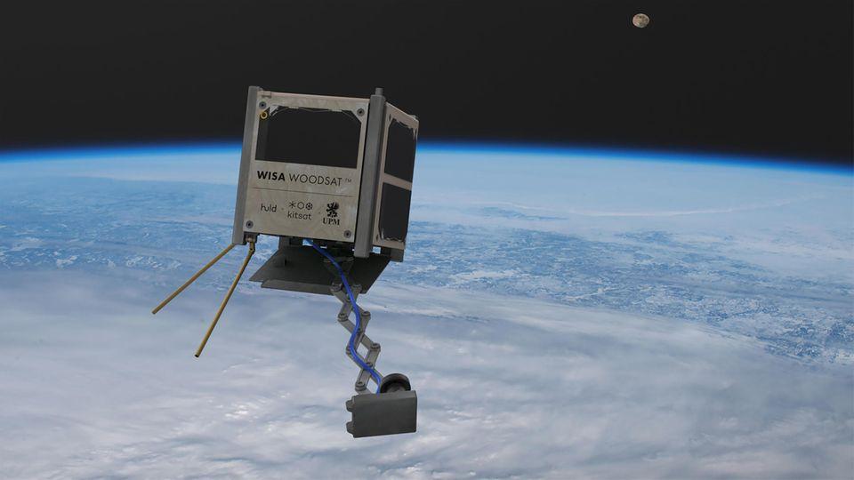 Beim Wisa Woodsat handelt es sich um einen sehr einfach Satelliten - aus Holz