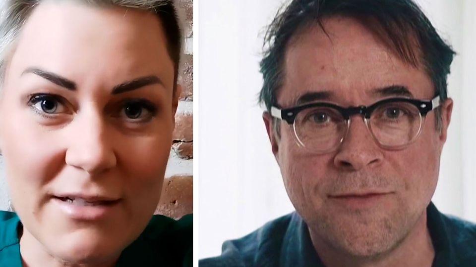 Notärztin Carola Holzner fordert #allesdichtmachen-Schauspieler auf, Schicht auf Intensivstation zu begleiten