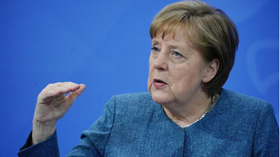 """Merkel zu Corona-Impfpriorisierungen – """"Ab Juni kann sich jeder um einen Impftermin bemühen""""."""