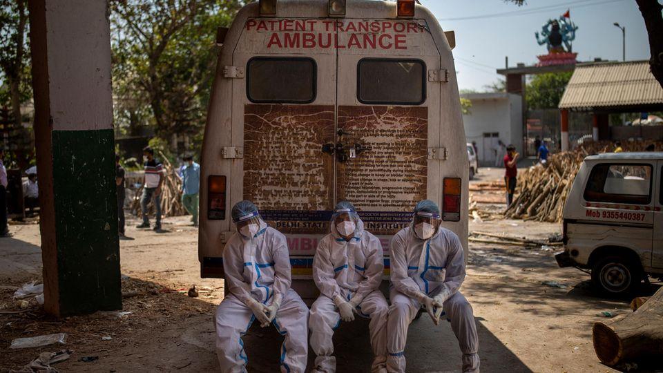 Krankenwagen in Indien